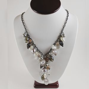 NY & Co Y Shaped Multi Beaded Statement Necklace